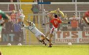2 October 2004; Stephen Kernan, Armagh, scores a penalty past Mayo goalkeeper Fintan Ruddy. All-Ireland U21 Football Final, Armagh v Mayo, Kingspan Breffni Park, Cavan. Picture credit; Damien Eagers / SPORTSFILE