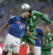 9 October 2004; Thierry Henry, France, in action against John O'Shea, Republic of Ireland. FIFA World Cup 2006 Qualifier, France v Republic of Ireland, Stade de France, Paris, France. Picture credit; Brendan Moran / SPORTSFILE