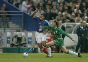9 October 2004; Thierry Henry, France, in action against Kevin Kilbane, Republic of Ireland. FIFA World Cup 2006 Qualifier, France v Republic of Ireland, Stade de France, Paris, France. Picture credit; Brendan Moran / SPORTSFILE