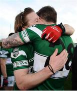 20 October 2013; Cahir Healy, left, and Zach Tuohy, Portlaoise, celebrate victory after the game. Laois County Senior Club Football Championship Final, Portlaoise v Arles - Killeen, O'Moore Park, Portlaoise, Co. Laois. Picture credit: Barry Cregg / SPORTSFILE