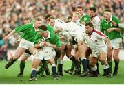 21 January 1995; Anthony Foley, Ireland, in action against England. Five Nations Rugby Championship, Ireland v England, Lansdowne Road, Dublin. Picture credit: Brendan Moran / SPORTSFILE
