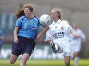 24 October 2004; Sonia Hoey, Dundalk, in action against Nicola Lindsay, UCD. 2004 FAI Ladies National Senior Cup Final, UCD v Dundalk, Lansdowne Road, Dublin. Picture credit; Matt Browne / SPORTSFILE