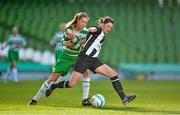 3 November 2013; Kerrie Ryan, Raheny United, in action against Sara McGeough, Castlebar Celtic. 2013 FAI Umbro Women's Senior Cup Final, Raheny United v Castlebar Celtic, Aviva Stadium, Lansdowne Road, Dublin. Picture credit: Brendan Moran / SPORTSFILE