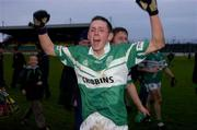 21 November 2004; Craig Rogers, Portlaoise, celebrates after the final whistle. AIB Leinster Club Senior Football Championship Semi-Final, Portlaoise v Kilmacud Crokes, Dr. Cullen Park, Portlaoise, Co. Laois. Picture credit; Matt Browne / SPORTSFILE