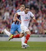 3 November 2013; Raffaele Cretaro, Sligo Rovers, in action against Paul O'Connor, Drogheda United. FAI Ford Cup Final, Drogheda United v Sligo Rovers, Aviva Stadium, Lansdowne Road, Dublin. Picture credit: Brendan Moran / SPORTSFILE