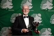 2 November 2013; Karl Vekins, Donegal, who received the Technical Official of the Year, at the Triathlon Ireland Awards Dinner 2013, sponsored by Vodafone, in the Aviva Stadium, Lansdowne Road, Dublin. Picture credit: Paul Mohan / SPORTSFILE