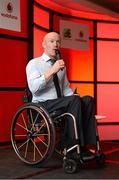 2 November 2013; Mark Rohan speaking at the Triathlon Ireland Awards Dinner 2013, sponsored by Vodafone, in the Aviva Stadium, Lansdowne Road, Dublin. Picture credit: Paul Mohan / SPORTSFILE