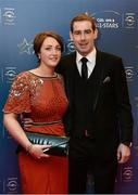 8 November 2013; Clare hurler Patrick Donnellan and Edel Leahy ahead of the GAA GPA All-Star Awards 2013 Sponsored by Opel, at Croke Park, Dublin. Picture credit: Paul Mohan / SPORTSFILE