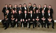 8 November 2013; The 2013 GAA GPA All-Star Football Team of the Year, sponsored by Opel, back row, from left, Stephen Cluxton, James O'Donoghue, Colm Cooper, Bernard Brogan, Sean Cavanagh, Aidan O'Shea, Cian O'Sullivan, Keith Higgins, Conor McManus and Colm Boyle, with front row, from left, Rory O'Carroll, Paul Flynn, Dessie Farrell, CEO of the GPA,  Uachtarán Chumann Lúthchleas Gael Liam Ó Néill, Opel Ireland Managing Director Dave Sheeran, Michael Darragh Macauley, Colin Walshe and Lee Keegan at the 2013 GAA GPA All-Star awards in Croke Park, Dublin. Picture credit: Paul Mohan / SPORTSFILE