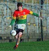 16 January 1999; Noel Doyle of Carlow during the O'Byrne Cup Quarter-Final match between Carlow and Dublin at Dr Cullen Park in Carlow. Photo by Aoife Rice/Sportsfile