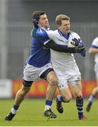 10 November 2013; Tomas Quinn, St Vincent's, in action against Willie McGovern, St Loman's. AIB Leinster Senior Club Football Championship, Quarter-Final, St Loman's, Westmeath v St Vincent's, Dublin. Cusack Park, Mullingar, Co. Westmeath. Picture credit: Pat Murphy / SPORTSFILE