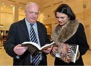 "12 November 2013; Neasa Ó Sé and author Donal Keenan in attendance at the launch of his book ""Páidí - A big life"". Launch of Páidí Ó Sé Book, D4 Ballsbridge Hotel, Ballsbridge Dublin. Picture credit: Barry Cregg / SPORTSFILE"
