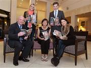 "12 November 2013; Author Donal Keenan, left, with members of Páidí Ó Sé's family, from left to right, daughter Siún, wife Máire, son Pádraig Og and daughter Neasa, in attendance at the launch of his book ""Páidí - A big life"". Launch of Páidí Ó Sé Book, D4 Ballsbridge Hotel, Ballsbridge Dublin. Picture credit: Barry Cregg / SPORTSFILE"