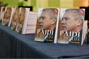 12 November 2013; A general view of books on display at the launch of a Páidí Ó Sé book. D4 Ballsbridge Hotel, Ballsbridge Dublin. Picture credit: Barry Cregg / SPORTSFILE