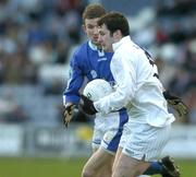 16 January 2005; Aaron Flood, Kildare, in action against Garu Kavanagh, Laois. O'Byrne Cup, Semi-Final, Laois v Kildare, O'Moore Park, Portlaoise, Co. Laois. Picture credit; Matt Browne / SPORTSFILE