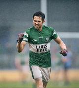 17 November 2013; Craig Rogers, Portlaoise, celebrates victory after the game. AIB Leinster Senior Club Football Championship, Quarter-Final, Longford Slashers, Longford v Portlaoise, Laois. Glennon Brothers Pearse Park, Longford. Picture credit: Stephen McCarthy / SPORTSFILE