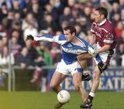 23 January 2005; Stephen Kelly, Laois, in action against David Mitchell, Westmeath. O'Byrne Cup Final, Westmeath v Laois, Cusack Park, Mullingar, Co. Westmeath. Picture credit; David Maher / SPORTSFILE