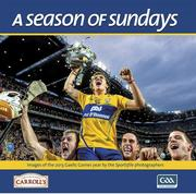 This 130 page hardback coffee table book (300mm x 300mm approx.) is a collection of images of the 2013 Gaelic Games year by the Sportsfile photographers. Each year Ray McManus and his team of photographers travel the highways and byways to capture the football and hurling season in all its colours and moods – from the dark days of winter to the high dramas of summer. Along the way they meet the players, the managers, the fans and the unsung heroes behind the scenes – all the main players on the GAA stage.  Their vivid and memorable images are enriched by Alan Milton's insightful captions in this, the 17th year of A Season of Sundays (RRP €29.95 less €5 off now €24.95)