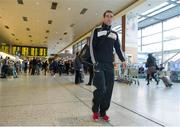 27 November 2013; Patrick Donnellan, Clare, from the Opel sponsored GAA GPA Hurling All Star Tour 2013, at Dublin Airport prior to their departure for Shanghai for the GAA GPA All Star Tour 2013, sponsored by Opel. Dublin Airport, Dublin. Picture credit: Pat Murphy / SPORTSFILE