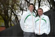 27 November 2013; In attendance at a press conference ahead of the 20th Spar European Cross Country Championships, which take place in Belgrade, Serbia, on Sunday December 8th, are Kevin Ankrom, left, High Performance Director, Athletics Ireland, and Chris Jones, National Endurance Coach. Alexander Hotel, Dublin. Picture credit: Brendan Moran / SPORTSFILE