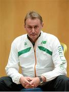 27 November 2013; Ireland National Endurance coach Chris Jones in attendance at a press conference ahead of the 20th Spar European Cross Country Championships, which take place in Belgrade, Serbia, on Sunday, December 8th. Alexander Hotel, Dublin. Picture credit: Brendan Moran / SPORTSFILE