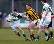 20 February 2005; Craig Rogers, Portlaoise, in action against Anthony Cunningham, Crossmaglen Rangers. AIB All-Ireland Club Senior Football Championship Semi-Final, Crossmaglen Rangers v Portlaoise, Parnell Park, Dublin. Picture credit; Damien Eagers / SPORTSFILE