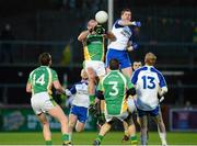 1 December 2013; Neil Gallagher, Glenswilly, in action against Enda Muldoon, Ballinderry Shamrocks. AIB Ulster Senior Club Football Championship Final, Glenswilly, Donegal v Ballinderry Shamrocks, Derry, Healy Park, Omagh, Co. Tyrone. Picture credit: Oliver McVeigh / SPORTSFILE
