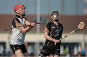 30 November 2013; John Mullane, Waterford, GAA GPA All-Stars 2012, left, in action against Patrick Donnellan, Clare, GAA GPA All-Stars 2013. GAA GPA All-Stars 2013 Exhibition Match, GAA GPA All-Stars 2013 v GAA GPA All-Stars 2012. Sponsored by Opel, Shanghai Rugby Football Club, Zhangyang Bei Lu, Wuzhou Da Dao, Shanghai, China. Picture credit: Ray McManus / SPORTSFILE