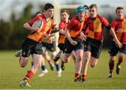 6 December 2013; Jake O'Connor, St. Fintan's High School, in action against Skerries Community College. Leinster Schools Junior League, Section B, Level 2 Final, Skerries Community College v St. Fintan's HS, Ashbourne RFC, Ashbourne, Co. Meath. Picture credit: Matt Browne / SPORTSFILE