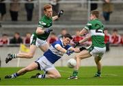 8 December 2013; Diarmuid Connolly, St.Vincents, in action against Brian Glynn and Stuart Nerney, 22, Portlaoise. AIB Leinster Senior Club Football Championship Final, Portlaoise, Laois v St Vincent's, Dublin. O'Connor Park, Tullamore, Co. Offaly. Picture credit: David Maher / SPORTSFILE