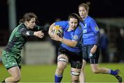 7 December 2013; Paula Fitzpatrick, Leinster, is tackled by Emma Cleary, Connacht. Women's Interprovincial, Leinster v Connacht, Ashbourne RFC, Ashbourne, Co. Meath. Picture credit: Matt Browne / SPORTSFILE