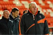 11 December 2013; Paul Grimley, Armagh Manager, right, along with Peter McDonnell and Kieran McGeeney, Armagh assistant managers before the game. O'Fiach Cup, Armagh v Derry, Athletic Grounds, Armagh. Picture credit: Oliver McVeigh / SPORTSFILE