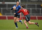 14 December 2013; Aine NiChatháin, Leinster, in action against Aoife Doyle, Munster. Women's Interprovincial, Munster v Leinster, Thomond Park, Limerick. Picture credit: Barry Cregg / SPORTSFILE  Picture credit: Barry Cregg / SPORTSFILE