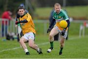 15 December 2013; Seamus Mattimoe, Meath, in action against Niall Darby, Offaly. Fitzsimons Cup Final, Meath v Offaly, Grangegodden, Kells, Co. Meath. Picture credit: Ramsey Cardy / SPORTSFILE