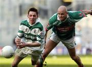 17 March 2005; Craig Rogers, Portlaoise, in action against James Devenney, Ballina Stephenites. AIB All-Ireland Club Senior Football Championship Final, Portlaoise v Ballina Stephenites, Croke Park, Dublin. Picture credit; Damien Eagers / SPORTSFILE