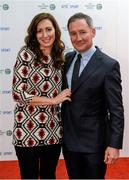 21 December 2013; Dublin football manager Jim Gavin and his wife Jennifer in attendance at the RTÉ Sports Awards 2013. RTÉ Studios, Donnybrook, Dublin. Picture credit: Paul Mohan / SPORTSFILE