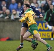 20 March 2005; Damien Diver, Donegal, in action against Shane Ryan, Dublin. Allianz National Football League, Division 1A, Dublin v Donegal, Parnell Park, Dublin. Picture credit; Brian Lawless / SPORTSFILE