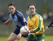 20 March 2005; Damien Diver, Donegal, in action against Declan Lally, Dublin. Allianz National Football League, Division 1A, Dublin v Donegal, Parnell Park, Dublin. Picture credit; David Levingstone / SPORTSFILE