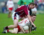 27 March 2005; Mickey Coleman, Tyrone, in action against John Brennan, Westmeath. Allianz National Football League, Division 1A, Westmeath v Tyrone, Cusack Park, Mullingar, Co. Westmeath. Picture credit; Oliver McVeigh / SPORTSFILE
