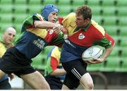 3 June 1999; Ireland's Malcolm O'Kelly is tackled by Paddy Johns. Ireland Rugby Squad Training, Stadium Australia, Sydney, Australia. Picture credit: Matt Browne / SPORTSFILE