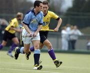 3 April 2005; Mark Raphael, Lisnagarvey, in action against Julian Lewis, Instonians. Mens Irish Senior Cup Final, Instonians v Lisnagarvey, Belfield, UCD, Dublin. Picture credit; Brian Lawless / SPORTSFILE