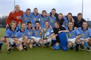 3 April 2005; The Lisnagarvey team celebrate with the cup after victory in the final. Mens Irish Senior Cup Final, Instonians v Lisnagarvey, Belfield, UCD, Dublin. Picture credit; Brian Lawless / SPORTSFILE