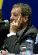 16 April 2005; GAA President Sean Kelly listens to a delegate at the 2005 GAA Congress. Croke Park, Dublin. Picture credit; Ray McManus / SPORTSFILE