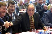 16 April 2005; Sligo delegate Ciaran McDermott, who poropsed the successful motion to the change of Rule 42 motion , is congratulated by his fellow delegates at the 2005 GAA Congress. Croke Park, Dublin. Picture credit; Ray McManus / SPORTSFILE