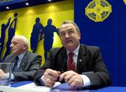16 April 2005; President elect Nickey Brennan after the result of the Presidential vote was announced at the 2005 GAA Congress. Croke Park, Dublin. Picture credit; Ray McManus / SPORTSFILE