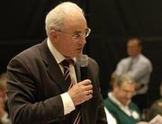 16 April 2005; Sean Walsh, Chairman of the Kerry County Board speaking at the 2005 GAA Congress. Croke Park, Dublin. Picture credit; Ray McManus / SPORTSFILE