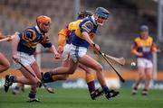 21 March 1999; Eddie Enright of Tipperary in action against Sean Flood of Wexford during the Church and General National Hurling League Division 1B match between Tipperary and Wexford at Semple Stadium in Thurles, Tipperary. Photo by Ray McManus/Sportsfile