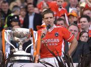 1 May 2005; Armagh captain Kieran McGeeney makes his speech after victory over Wexford. Allianz National Football League, Division 1 Final, Armagh v Wexford, Croke Park, Dublin. Picture credit; Brendan Moran / SPORTSFILE