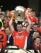 1 May 2005; Armagh's Steven McDonnell lifts the cup after victory over Wexford. Allianz National Football League, Division 1 Final, Armagh v Wexford, Croke Park, Dublin. Picture credit; Brendan Moran / SPORTSFILE