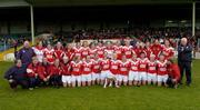 30 April 2005; The Cork team and officials celebrate. Suzuki Ladies National Football League, Division 1 Final, Cork v Galway, Gaelic Grounds, Limerick. Picture credit; Ray McManus / SPORTSFILE